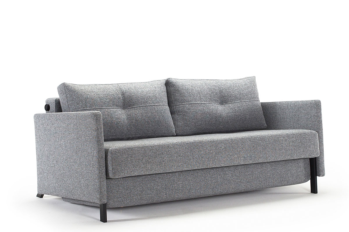 Cubed 160 sofa bed with arms from innovation for Sofa bed extension